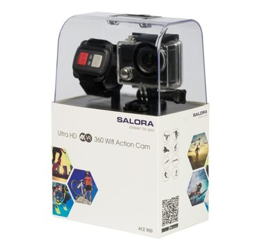 Salora ACE900 Ultra HD 4K Actioncam with full colour frontdisplay and VR function
