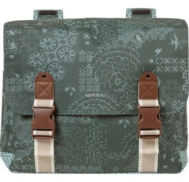 Basil Double bicycle bag model Boheme Forest Green