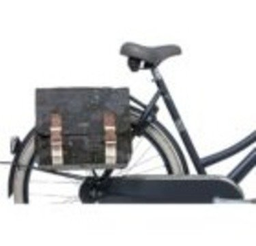 Basil double bicycle bag Model Boheme Charcoal